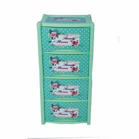Armoire Dream Decore - en plastique - 4 tiroirs - Vert
