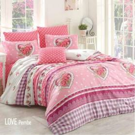 Golden Cache Couette Love - Blanc & Rose