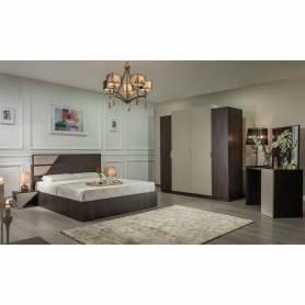 Chambre a coucher phénix - MDF Stratifié - Marron & Beige