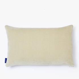Coussin rectangulaire décoratif - Velours - Beige
