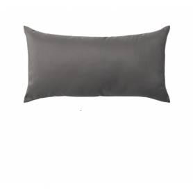 Coussin rectangulaire décoratif - Velours - Gris