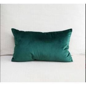 Coussin rectangulaire décoratif - Velours - Vert- 70*40