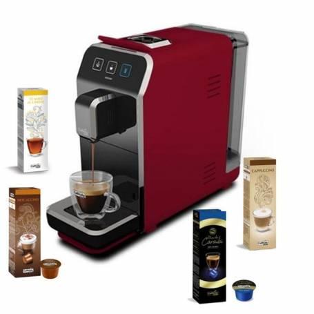 Machine à Café CAFFITALY Luna S32 + 40 capsules gratuit - Rouge