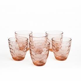 Pasabahce Ensemble de verres à eau Puzzle 6 pièces - Rose