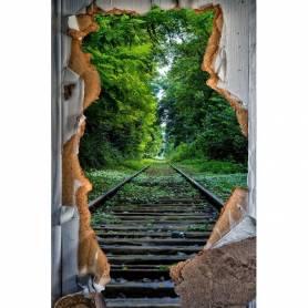 Tableau décoratif porte & railles - 120 x 80 cm