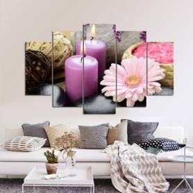 Tableau décoratif zen rose - 84×130 cm