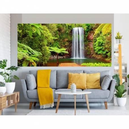 Tableau décoratif - chute forêt bâche enduis - 75 x 170 cm