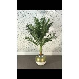 Palmiers artificielle - Doré & Blanc