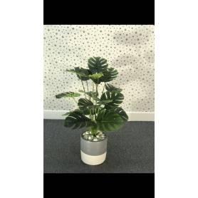 Plante artificielle - Gris & Blanc