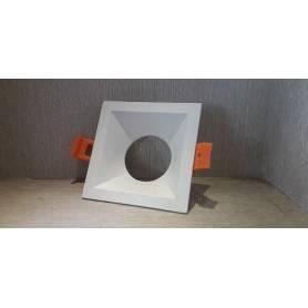 Spot blanc fixe carre sans lampe