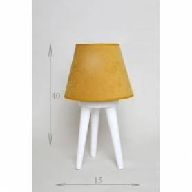 lampadaire scandinave trépied mini blanc en patine doré