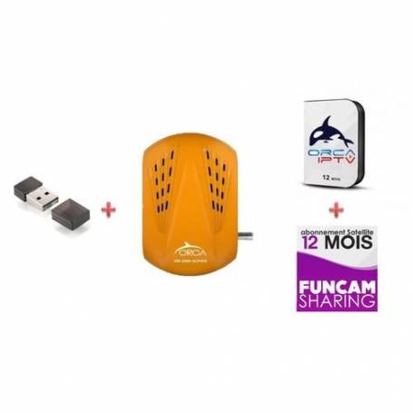 ORCA OR-2090 SUPERclé -Wi-Fi & Abonnements 1an FUNCAM/ORCA IPTV