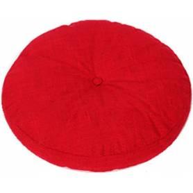 Coussin Déco Rond  50cm - Rouge