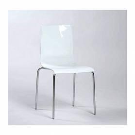Chaise blanc avec socle en...