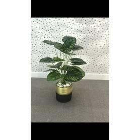Plante artificielle - Doré & Noir
