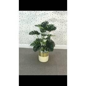Plante artificielle - Doré & Beige