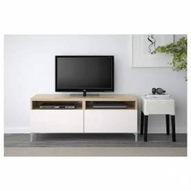 Meuble TV -Blanc -chêne
