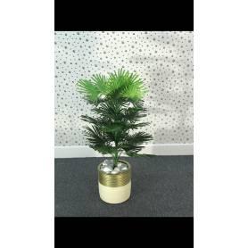 Plante artificielle -Beige-Doré