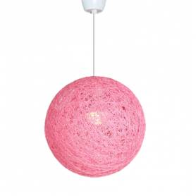 Lustre - Boule - Rose bébé