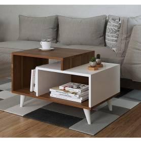 Table à Café-Marron-Blanc