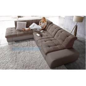Canapé d'angle Sandra - 230*220 - Marron