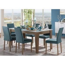 Table à Manger-Bleu-Marron