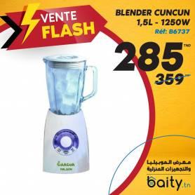 vente flash- foire de meuble blender CUNCUN - 1,5L - 1250W - Blanc - PALS.30986 - Bol Crystal
