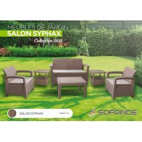 SALON JARDIN SYPHAX-4 places TAUPE