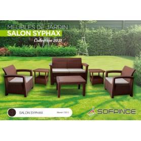 SALON JARDIN SYPHAX- 4 places MARRON