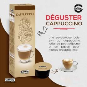 PAQUET DE 10 CAPSULES CAPUCCINO COMPATIBLE CAFFITALY+ 2 FILTRES