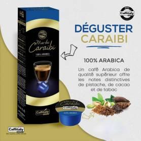 PAQUET DE 10 CAPSULES CARAIBI COMPATIBLE CAFFITALY+ 2 FILTRES