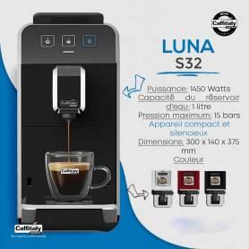 MACHINE À CAFÉ CAFFITALY LUNA S32 + 20 CAPSULES GRATUIT - NOIR