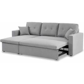 Canapé d'angle Convertible -Gris Clair