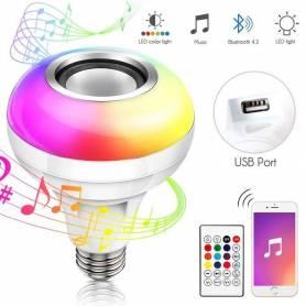 Ampoule LED RGB - Bluetooth - USB - E27
