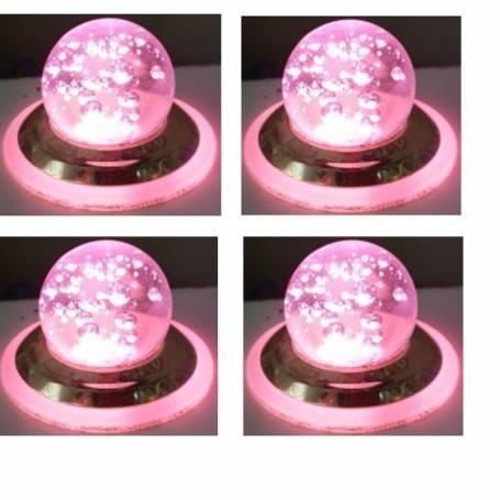 Pack De 4 Spot Niche A Bulle - 3W - Pink