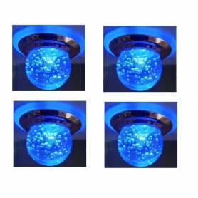 Pack de 4 Spot Niche a bulle - 3W - Bleu