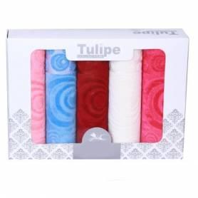 TULIPE SET DE 5 SERVIETTES - MULTI-COULEUR