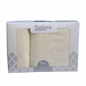 Tulipe Set de 2 Serviettes De Plage - Blanc