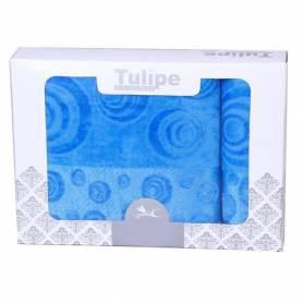 Tulipe Set de 2 Serviettes De Plage  BLEU
