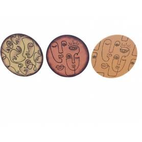 Set de 3 Assiettes Décoratives Murales En Poterie