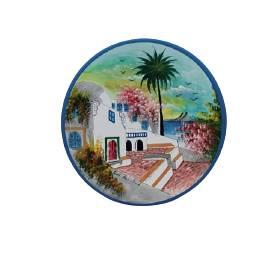 Assiette Décorative Murale Sidou Bousaid-Coloré