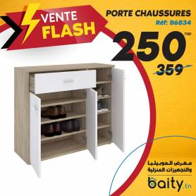 vente flash - Foire du meuble I Porte chaussures - Beige