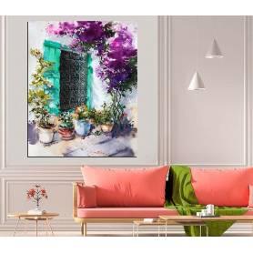 Tableau décoratif peinture fenêtre