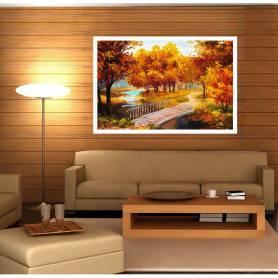 Tableau décoratif en toile - pont en bois