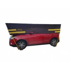 Abri de voiture démontable Taille 3 ( demi ) -Vert-Gris normale