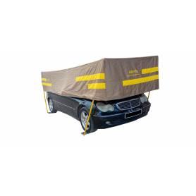 Abri de voiture démontable Taille 4 ( demi )-Beige-Vert-Marron-Violet