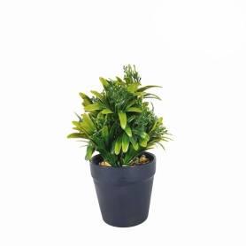 Plante Artificielle avec pot en Plastique-Vert