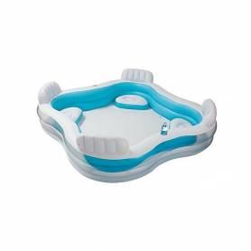 Intex Piscine family pool inflatable 229 * 229 * 66cm - 4 Chaises