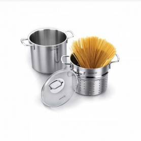 Korkmaz Set Perla à Spaghetti - Inox - A1523 - Garantie 1 An