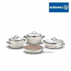 Korkmaz Set de 7 pièces - LUMİA Cookware-Beige